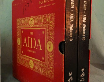 Aïda -Verdi - Complete Opera (Volume 1 and 2) Red Seal-- Very Rare! 1950s ( 20 x 45s , Vinyl Record ) Classical, Opera Music
