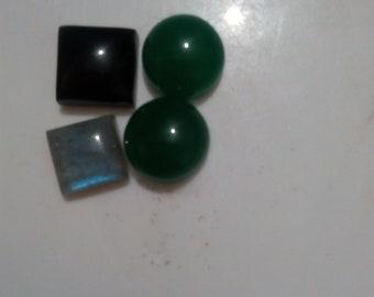 4 pieces mix gemstone cabochon different sizes