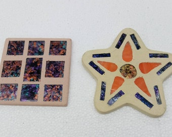 Square and Star Mosaic Wall Hanging Decor