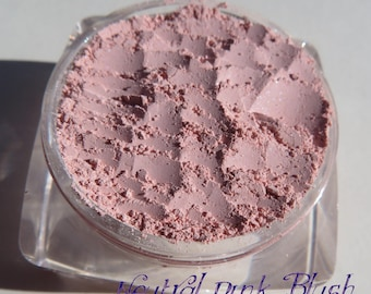 Neutral Pink Shade Powder Mineral Blush | Vegan Semi-Matte Pink Blush | Carmine-Free  Loose Pigments | Mineral Eyeshadow Blush or Eye Shadow