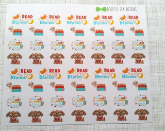 Reading // Bookworm Stickers (Set of 52) Item #186
