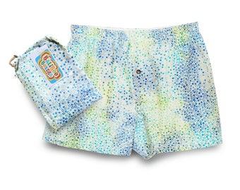 Batik Boxers Cotton, Pajama Shorts, Mens Pajamas Batik, Boyfriend Gift Boxers, Batik Baliboo Boxers