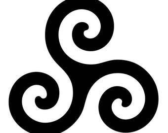 Celtic Triskelion vinyl decal sticker for Car/Truck Window Merlin Druid symbol