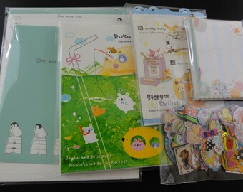 346 pc STATIONERY Paper Envelope + Memo + Sticker Set Surprise GRAB BAG Stationary kawaii cute designer Collectible San-X Sanrio Gift Her