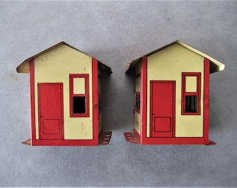 Whats Better Than One? TWO Vintage Tin Erector Set Buildings/House
