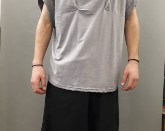 Oversize balboa t shirt with pleated shoulders