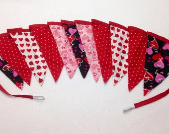 Valentine's Day Fabric Reusable Banners-Buntings-Garland-Party Decorations
