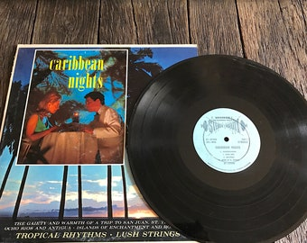 Vintage Caribbean Nights LP - Vintage Tropical Music - Caribbean Nights Vinyl Records  - Guantanamera Record - SF-29300