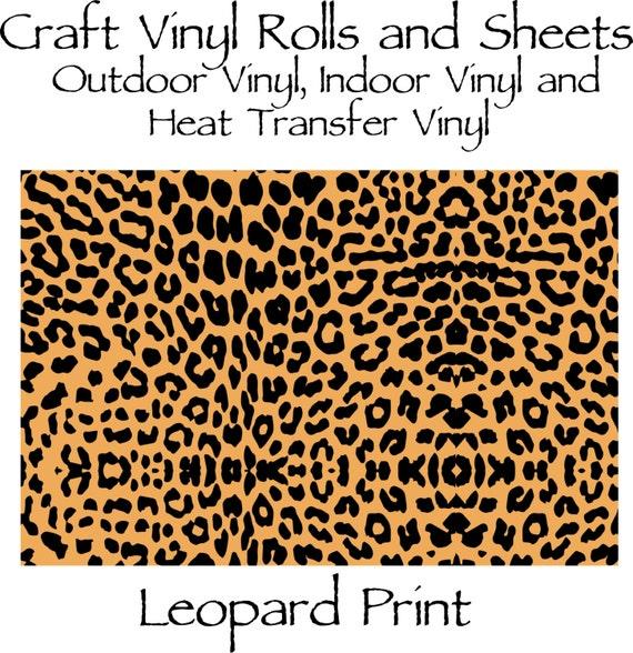 Beautiful, Vibrant Craft Vinyl and Heat Transfer Vinyl in Leopard Print