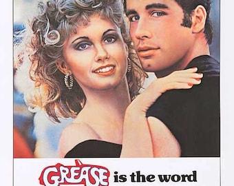 Original Grease (1978) movie poster reprint