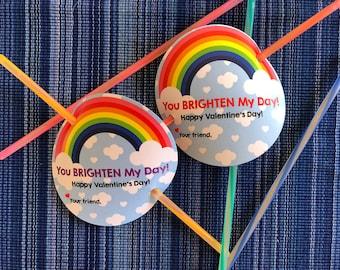 You Brighten My Day Valentine - Instant Download - Valentine's Day Digital Printable -  Kids Valentines - Valentines for Kids - Glow Sticks