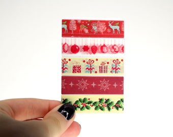 Christmas Planner Washi Sampler, 5 Christmas Washi Samples for your Erin Condren Life Planner, Mambi Happy Planner, Decorative Accessories