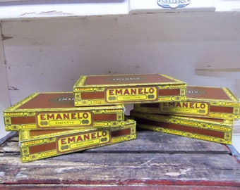5 Cardboard Emanelo Cigar Boxes for Crafting Projects