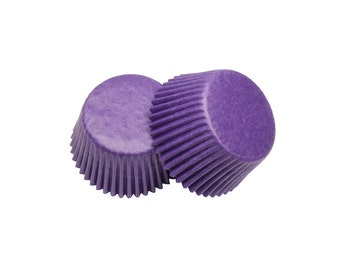 Purple Glassine Baking Cupcake Liners Cups - 36 Standard Size Liners - Baking, Craft and Party Supplies