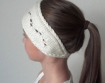 Knit Turban Headband Headwrap Earwarmer in CREAM - The BECKY - (more colors available)