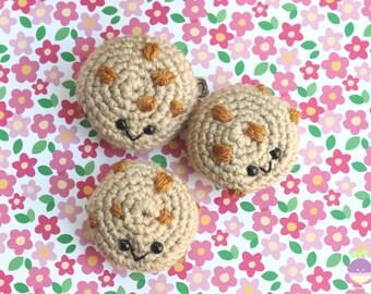 Crochet Pattern Chocolate Chip Cookie Amigurumi Food