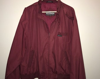 Vintage 80's Maroon Members Only Jacket / size XXL / by Members Only
