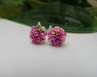 Tie Dye Flower Earrings, Girls Earrings. Stud Earrings,Flower Earrings, Tie Dye Gifts