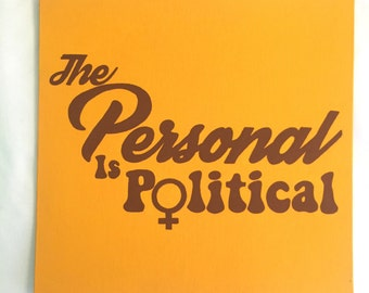 The Personal is Political Retro Hand Painted Canvas