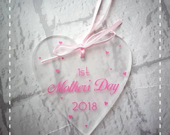 First Mothers Day plaque. 1st mothers day mam mum mom mammy mummy mother gift for her keepsake heart