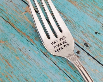 May the fork be with you Vintage Silver Plate Fork