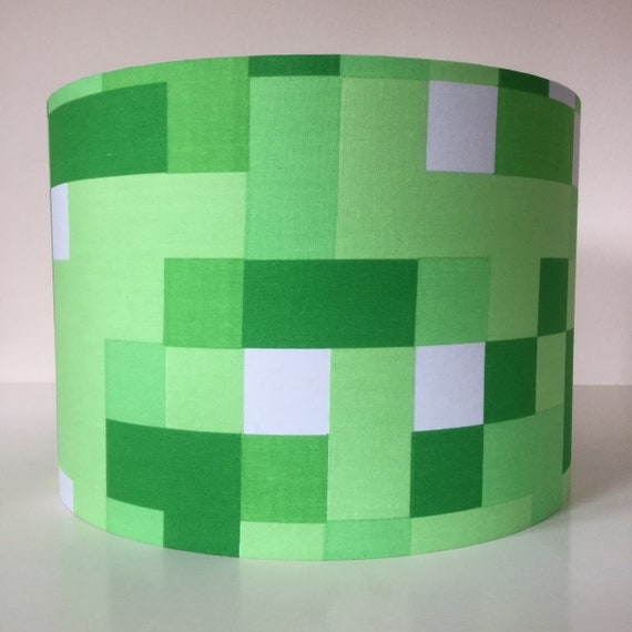 Handmade minecraft inspired nursery lampshade minecraft handmade minecraft inspired nursery lampshade minecraft lampshade boys room lampshade nursery decor gift for a boy minecraft birthday party aloadofball Gallery