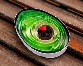 """Quilled Paper Art :   """" Sweet Avocado """""""