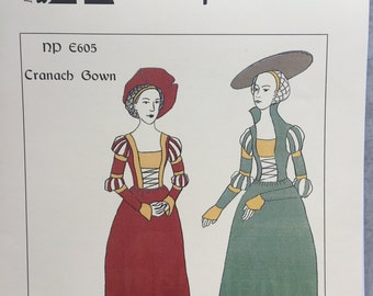Cranach Gown - German Renaissance Dress Pattern