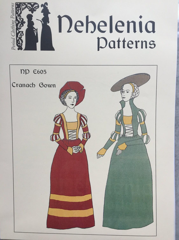 Cranach-Kleid deutsche Renaissance Kleid Muster