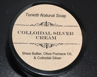 Natural Organic Colloidal Silver Cream