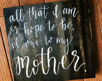 Mother's Day Wooden Plaque