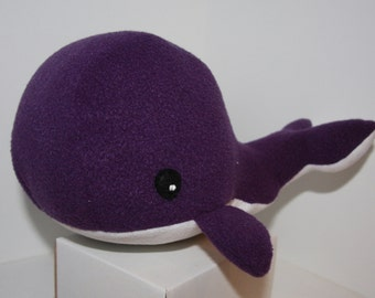 Whale softie.... Plush whale soft toy, available in many colours, able to be personalised with name.