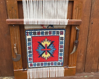 Mini Tapestry Loom--Decorative Miniature Loom--Mini Carpet Loom--Miniature Persian Rug Loom--Mini Loom Wall Hanging--Mid East Souvenir Loom