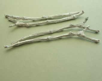 cast silver twig branches sterling findings for metalsmiths UT007-4