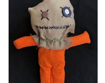 Sam Doll- Trick R Treat doll, Horror Doll, Voodoo doll, rag doll