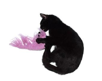 Cat Toy, Catnip Toy Shrimp, Organic Catnip, Felted Hand Knit Wool, Remy Laud