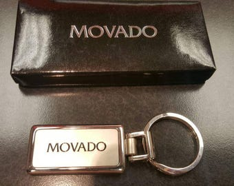Movado stainless steel key chain