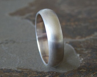 HEAVY TRADITIONAL Silver 6mm  // Men's Wedding Ring // Women's Wedding Ring // Men's Wedding Band // Women's Wedding Band // Unique Band