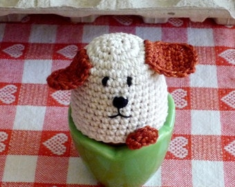 Crochet Dog Egg Cozy - Dog Warmers  - Farmhouse Kitchen Decor - Gift for Dog Lover - Housewarming Gift - Gift for Couples - 2 pc