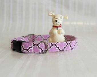 Floral Print Dog Collar, Purple White Dog Collars Dog Collars, Pet Collar,Custom Dog Collar,Adjustable Dog Collar,Gifts for Pets, Joy Collar
