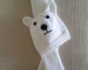 Polar Bear Hat and Scarf Set