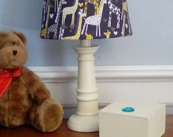 "Giraffe nursery lamp, ""GIRAFFE LOVE"" nursery lamp,  animal/zoo theme nursery, baby gift, shower gift, giraffe accent/table  lamp, zoo lamp"