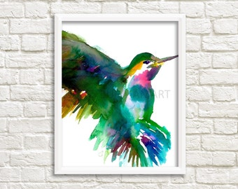Hummingbird Large Poster, Hummingbird Print, Hummingbird Watercolor, Large Poster, Bird Painting, Bird Poster, Watercolor Hummingbird