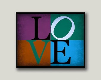 LOVE Sign, LOVE Letters, LOVE Philadelphia Printable Art, Instant Download