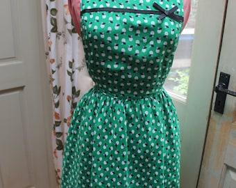 Short sleeve vintage lined summer dress REF 202