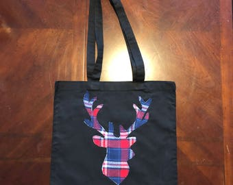 Patriotic Deer Head Silhouette Tote