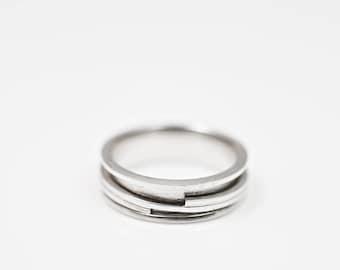 Fidget ring, Spinner ring men or women, Meditation ring sterling silver