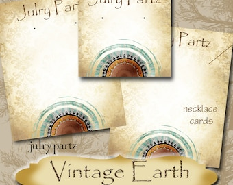 VINTAGE EARTH Series 2•Custom Tags•Labels•Earring Display•Clothing Tags•Custom •Boutique Card•Tags•Custom Tags•Custom Labels