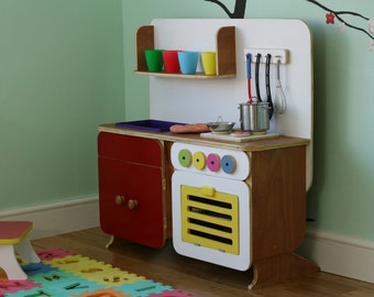 Kids large wooden play kitchen