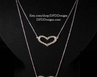 Sterling Silver Heart to Heart Necklace